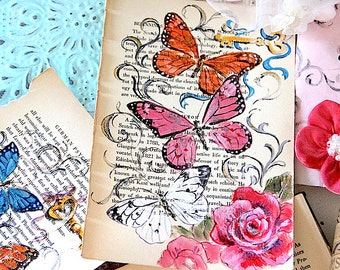 Butterfly Altered Book Page