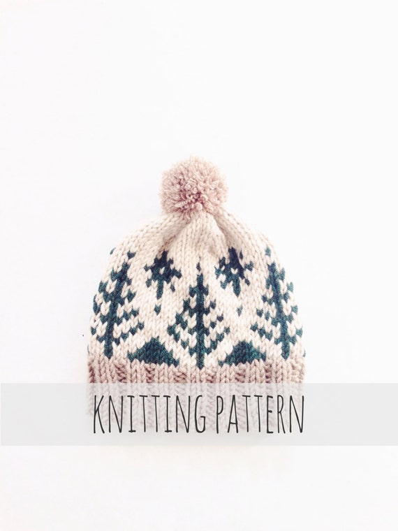 PATTERN for Pompom Winter Ski Fair Isle Patterned Alpine