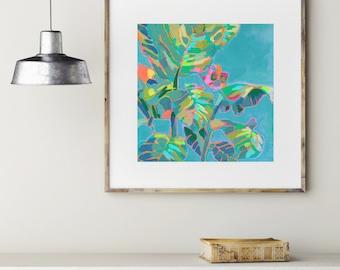 Ginger Leaves / Signed Tropical Leaf Giclee Print
