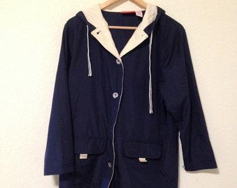 vintage liz claiborne navy jacket / 80s 90s