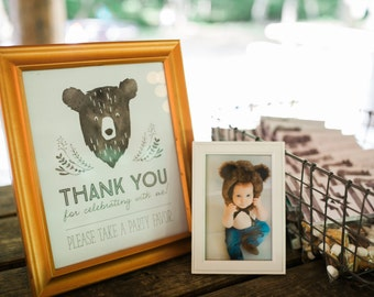 Printable Custome Sign - Man Cub Birthday