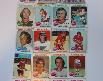 SALE - Vintage 1975 Topps Hockey Trading Cards Set of 20