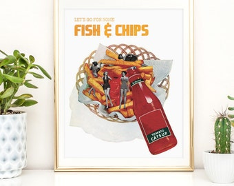 Food Print - Fish and Chips poster