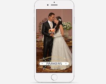 Wedding Snapchat Geofilter, Art Deco Snapchat Filter, Art Deco Wedding, Art Nouveau Snapchat Geofilter, Golden Snapchat Wedding Filter