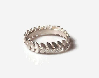 Gifts for mom,Leaves Ring, Dainty Ring, Christmas Gifts, Leaf Ring,Sterling silver dainty ring, Gold ring, Rose goldring, Silver Ring,
