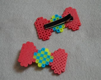 Red yellow/blue 8-bit Hair Clips