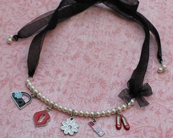 Wishful - Pearl Charm Necklace