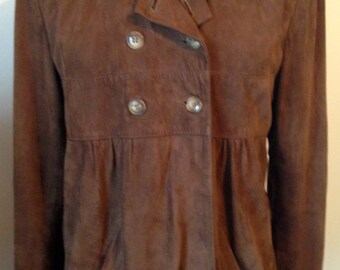 Jacket, leather, Brown, Brown