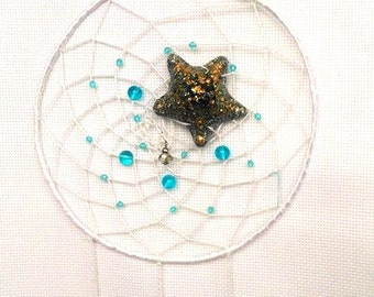 Orgonite®~ Boho Dream Catcher Orgone ~ DreamCatcher summer feather bead -Dreamcatcher Orgone ~ Star Fisherman Dreams- Original handmade