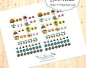 Printable Planner Stickers for Planners/Calendarsl - Pagan Sabbat Pack