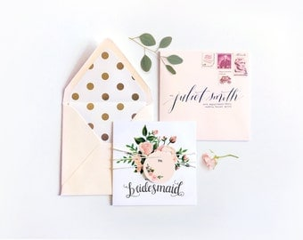 Juliet Collection - Will You Be My Bridesmaid Card?