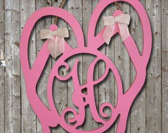 Wooden Flip Flop Initial - Painted or Unfinished