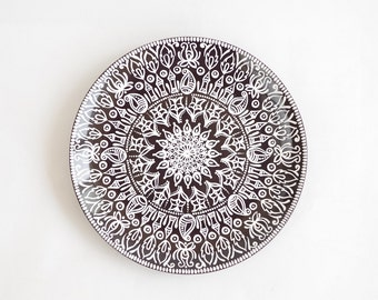 Indian decorative plate - Wall decorations - Christmas gift - Hand painted plates - Living room ideas - Floral decor - Wall hangings