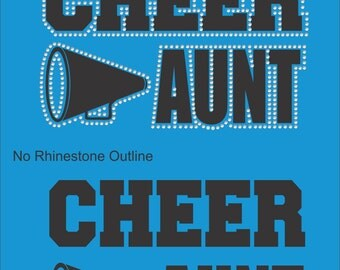 Cheer Aunt Sweatshirt/ Cheer Aunt Hoodie/ Vinyl Rhinestone Cheer Aunt Hoodie Sweatshirt/ Cheer Aunt Shirts/ Cheer Sweatshirt/ Many Colors