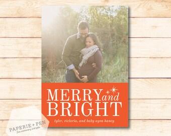 Merry & Bright // Holiday Photo Card