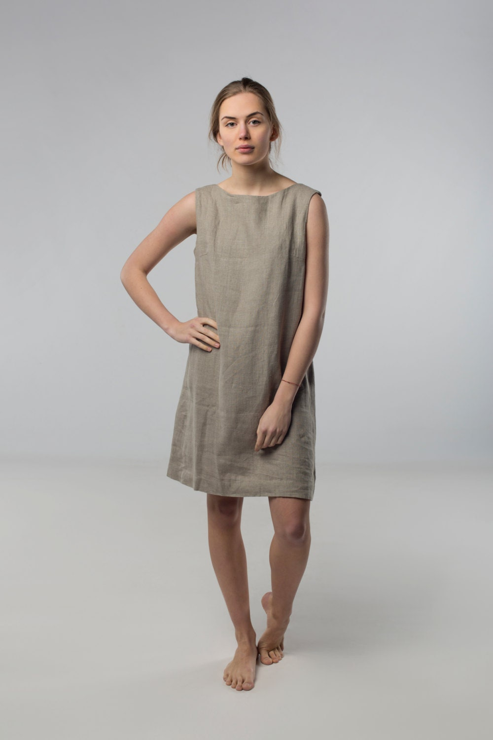 7ffdbc02d25 Linen dress Natural linen grey dress Loose dress Linen by .