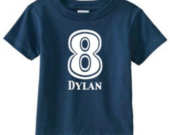Number Shirt | 8th Birthday Shirt | Birthday Number Shirt | Birthday Party Shirt | 8 Shirt | Birthday Shirt | Personalized Birthday Shirt