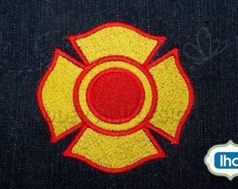 Fire Department Maltese Cross Embroidery -- Machine Embroidery Design -- No. FD011