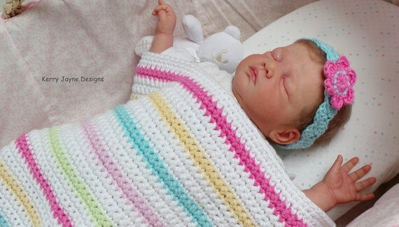 BEGINNERS BABY BLANKET Pattern Easy Crochet blanket pattern