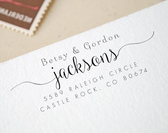 Personalized Custom Return Address Stamp - Great Wedding, Newlywed, Housewarming, New Home, Realtor Gift! Self inked, Pre-inked RE822