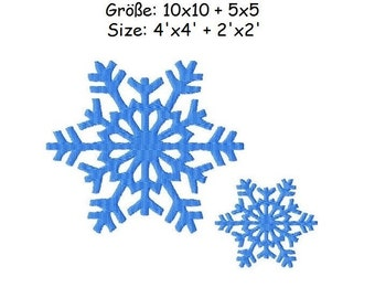 Embroidery Design Snowflake 4'x4' + 2'x2' - DIGITAL DOWNLOAD PRODUCT