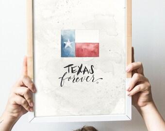 Texas Forever Print