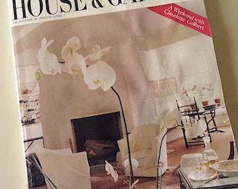 80s Vintage Magazine / 1987 House & Garden Magazine / Creative Living / Claudette Colbert / Luxury Homes / Furnishings / Interior Design