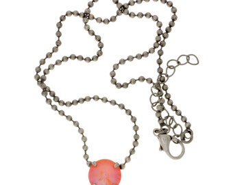 Ultra Orange Single Stone Necklace
