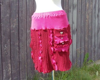Valentini a Medium Large Kicky Little Skirt made from recycled sweaters