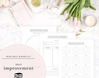 Self-Improvement Binder Kit PDF - A Printable PDF