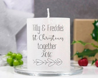 1st Christmas Together Mistletoe Candle For Couples / Christmas Candle / Candle for couples