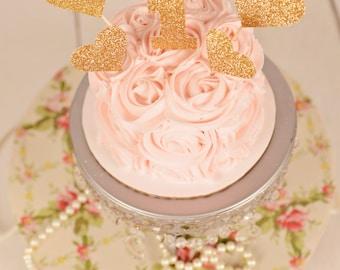 heart cake topper etsy