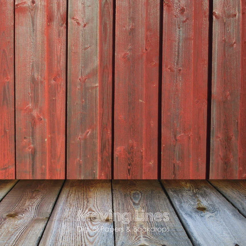 Red wood wall baby photography backdrop wood floor printable for Printable flooring