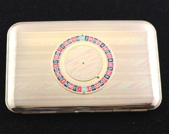 Beautiful Vintage Roulette Gold Cigarette Case 1950's