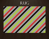 Items Similar To Striped Area Rugs Green Red Gray And