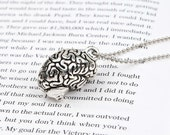New Fashion Necklace Ball Chain Antique Silver Cerebrum /Brain Human Body Pendant