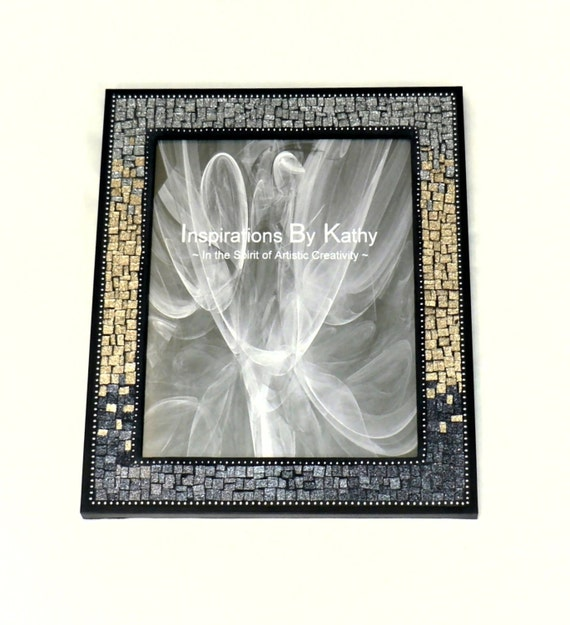 5x7 picture frame glitter glass picture by