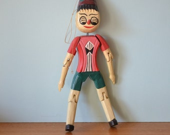 Vintage wooden Pinocchio doll figure OT8