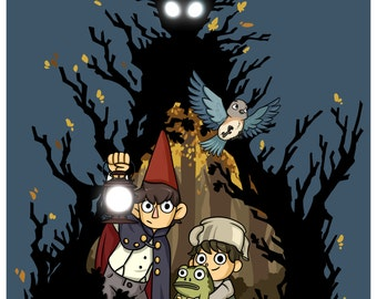 Over the Garden Wall - Wirt, Greg, Beatrice, Jason Funderburker and The Beast - Fanart Print