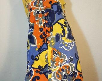 FREE  SHIPPING  1960 Pop Art Mod Dress