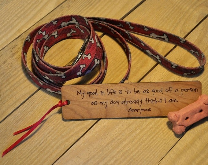 PET BOOKMARKS: Choose from eight quotes; see lists in photos for choices! Each one is engraved on cherry wood, and can be personalized!