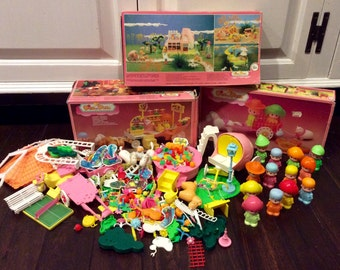 1984 Pin y Pon Dolls, Accessories & Play Sets Made in Spain, Pin Y Pon, Kawaii Dolls, Pin y Pon Miniature Dolls, Vintage Pin y Pon Play Set