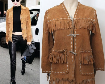 60's/70's FRINGE suede leather jacket