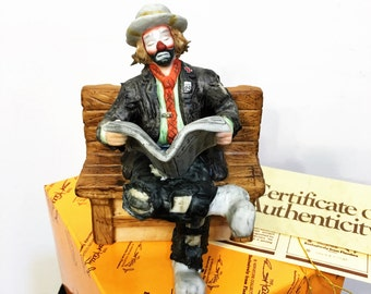 Big Business Figurine by Emmett Kelly Jr Exclusively for Flambro, Emmett Kelly Jr Miniature Collection, EKJ Flambro Sad Clown Figurine