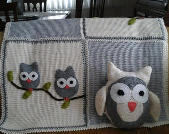 Handmade  Blanket and a Pillow
