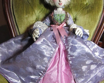 OOAK cloth art boudoir doll, Mademoiselle