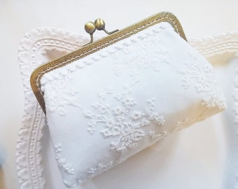 White Lace Purse