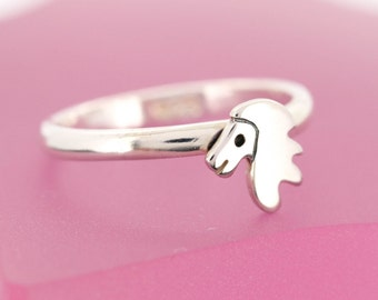 Sterling Silver Lion Ring - Stacking Ring - Animal Jewellery