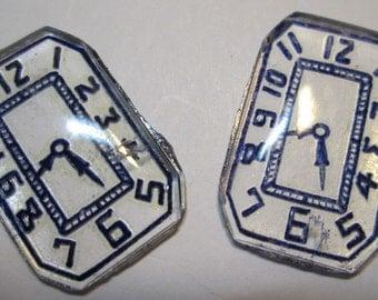 2 Vintage Time Piece Cabochons