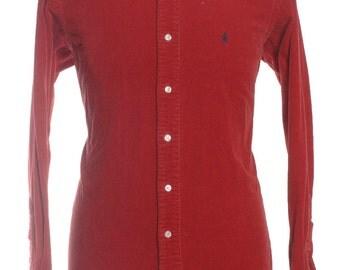 Vintage Ralph Lauren Red Corduroy Shirt L- www.brickvintage.com